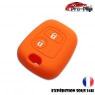 Housse SILICONE pour CLE PEUGEOT 106 206 306...ORANGE ETUI de protection COQUE TELECOMMANDE @Pro-Plip
