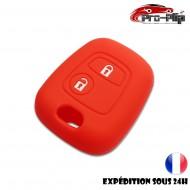 Housse SILICONE pour CLE PEUGEOT 106 206 306...ROUGE ETUI de protection COQUE TELECOMMANDE @Pro-Plip