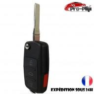 CLE PLIP pour Volkswagen New BEETLE Golf Polo Passat Bora 3 boutons + PANIC COQUE TELECOMMANDE @Pro-Plip