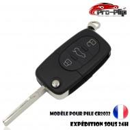CLE PLIP pour AUDI A2 A3 A4 A6 A8 TT S3 S4 A1 A5 Q7 3 boutons COQUE pour pile CR2032 TELECOMMANDE @Pro-Plip
