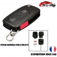 CLE PLIP pour Volkswagen Golf Polo Passat Bora Transporter Touareg Jetta 2 boutons+ PANIC COQUE pour pile CR2032 @Pro-Plip