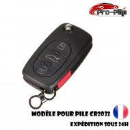 CLE PLIP pour Volkswagen Golf Polo Passat Bora Transporter Touareg Jetta 3 boutons + PANIC COQUE pour pile CR2032 @Pro-Plip