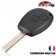 CLE PLIP compatible avec RENAULT Megane Laguna Scenic Espace Trafic 2 boutons LAME PLATE COQUE @Pro-Plip