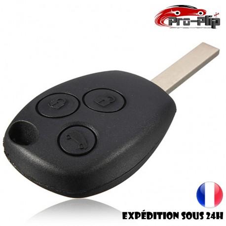 CLE PLIP compatible avec RENAULT Modus Clio Kangoo Twingo Wind 3 boutons LAME PLATE COQUE @Pro-Plip