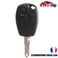 CLE PLIP RENAULT Modus Clio Kangoo Twingo Wind 3 boutons LAME TROU COQUE @Pro-Plip