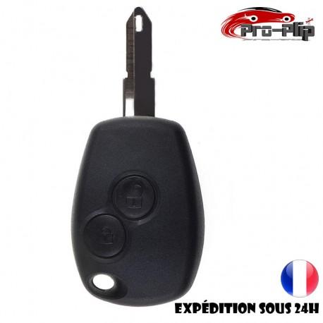 CLE PLIP DACIA Dacia Logan Sandero Duster Lodgy 2 boutons LAME TROU COQUE @Pro-Plip