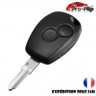 CLE PLIP RENAULT Modus Clio Kangoo Twingo Wind 2 boutons LAME SANS TROU COQUE @Pro-Plip