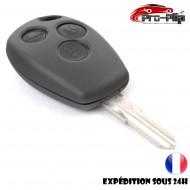 CLE PLIP DACIA Dacia Logan Sandero Duster Lodgy 3 boutons LAME SANS TROU COQUE @Pro-Plip