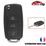CLE PLIP Volkswagen Golf Polo Passat Bora Touran Cady Jetta 3 boutons COQUE N°1 @Pro-Plip