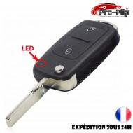 CLE PLIP Volkswagen Golf Polo Passat Bora Touran Cady Jetta 2 boutons COQUE N°2 @Pro-Plip