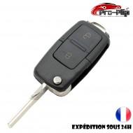 CLE PLIP Volkswagen Transporter Sharan Scirocco Touran Tiguan 2 boutons rectangle COQUE N°2 @Pro-Plip