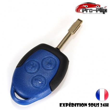 CLE PLIP FORD Transit COQUE TELECOMMANDE bleue @Pro-Plip
