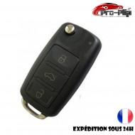 CLE PLIP pour AUDI A2 A3 A4 A6 A8 TT S3 S4 A1 A5 Q7 3 boutons rectangulaires COQUE TELECOMMANDE @Pro-Plip