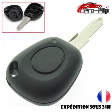 CLE PLIP Renault Clio Laguna Megane Twingo Safrane 1 bouton pour pile CR2016 COQUE @Pro-Plip