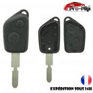 CLE PLIP PEUGEOT 405 106 206 306 406 407 607 COQUE TELECOMMANDE 2 boutons n°2 @Pro-Plip