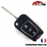 CLE PLIP HYUNDAI IX30 IX35 I30 I10 I20 COQUE Bouton HOLD Nouveau modèle argenté @Pro-Plip