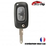 CLE PLIP RENAULT Modus Kangoo Scenic Clio Megane 2 bouton lame trouée @Pro-Plip