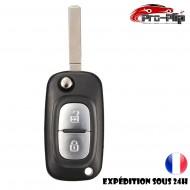 CLE PLIP compatible avec RENAULT Modus Kangoo Scenic Clio Megane 2 bouton LAME PLATE @Pro-Plip