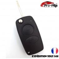 CLE PLIP ALFA ROMEO 147 156 166 Spider 2 boutons rectangulaire TELECOMMANDE @Pro-Plip