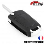 CLE PLIP OPEL Corsa Tigra Insigna Signum Vectra 2 boutons COQUE @Pro-Plip