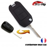 KIT DE TRANSFORMATION CLE PLIP CITROEN C1 C2 C3 C5 C8 Jumpy 2 boutons lame rainurée conversion @Pro-Plip