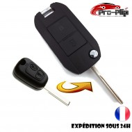 KIT DE TRANSFORMATION CLE PLIP Peugeot 207 307 407 807 Expert 2 boutons lame rainurée conversion @Pro-Plip