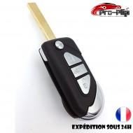CLE PLIP CITROEN C3 DS3 DS4 Berlingo Xsara 3 boutons LAME RAINUREE COQUE TELECOMMANDE @Pro-Plip