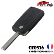 CLE PLIP PEUGEOT 3 boutons COFFRE 3008 5008 modèle CE0536 lame AVEC rainure TELECOMMANDE @Pro-Plip
