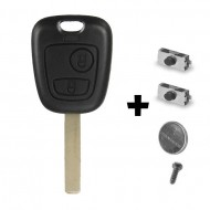 CLE PLIP PEUGEOT 107 207 307 407 106 206 306 406 KIT + 2 switch COQUE TELECOMMANDE @Pro-Plip