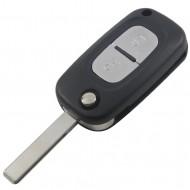 CLE PLIP RENAULT Clio Megane Kangoo Modus 2 bouton LAME PLATE AVEC RAINURES @Pro-Plip