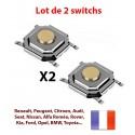2X Switch bouton clé télécommande plip compatible avec Peugeot Citroen Nissan Opel Porsche Renault Toyota Fiat Alfa @Pro-Plip