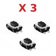 3X Switch bouton clé télécommande plip compatible avec Peugeot Citroen Renault @Pro-Plip
