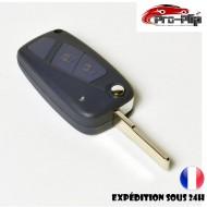 CLE PLIP pour FIAT STILO DUCATO DOBLO PANDA ULYSSE PUNTO BRAVO BRAVA modèle 2 boutons COQUE TELECOMMANDE @Pro-Plip