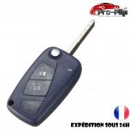 CLE PLIP pour FIAT STILO DUCATO DOBLO PANDA ULYSSE PUNTO BRAVO BRAVA modèle 3 boutons COQUE TELECOMMANDE @Pro-Plip