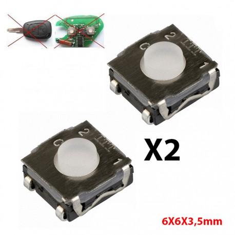 3X Switch bouton clé télécommande plip Peugeot Citroen Renault @Pro-Plip