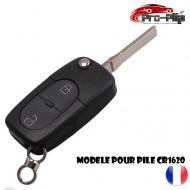 CLE PLIP pour AUDI A2 A3 A4 A6 A8 TT S3 S4 A1 A5 Q7 2 boutons COQUE pour pile modèle CR1620 @Pro-Plip