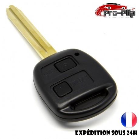 CLE PLIP pour TOYOTA Camry Land cruiser Avensis 4Runner Avalon Celica Corolla 2 boutons COQUE TELECOMMANDE @Pro-Plip