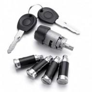 2 Keys Ignition Switch Door Lock Barrel Set For VW T4 Caravelle 1990-2003 Transporter Double Barn Do