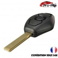 CLE PLIP pour BMW serie 3 5 6 7 X3 X5 6 7 Z3 Z4 M3 E COQUE TELECOMMANDE lame sans rainures @Pro-Plip