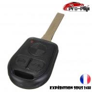 CLE PLIP pour BMW serie 3 5 6 7 X3 X5 6 7 Z3 Z4 M3 E COQUE TELECOMMANDE lame sans rainures 3 boutons @Pro-Plip