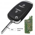 jingyuqin 433MHz ASKFSK Modified Flip Remote Car Key for Citroen PICASSO C2 C3 C4 C5 C6 C8 CE0536 V