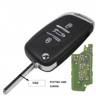 jingyuqin 433MHz ASKFSK Modified Flip Remote Car Key for Citroen PICASSO C2 C3 C4 C5 C6 C8 CE0536 V