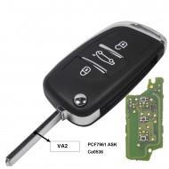 ProPlip Clé complète électronique 3 boutons CITROEN Picasso C2 C3 C4 C5 C6 PEUGEOT 206 207 307 308 408 308 433MHz ce0536