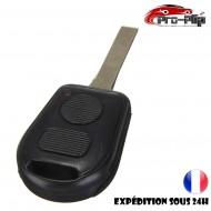 CLE PLIP pour BMW serie 3 5 6 7 X3 X5 6 7 Z3 Z4 M3 E COQUE TELECOMMANDE lame sans rainures 2 boutons @Pro-Plip