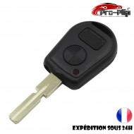 CLE PLIP pour BMW serie 3 5 6 7 X3 X5 6 7 Z3 Z4 M3 E COQUE TELECOMMANDE lame avec rainures 2 boutons @Pro-Plip