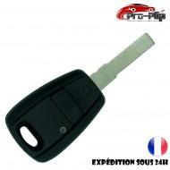 CLE PLIP pour Fiat Punto Doblo Stilo Bravo Brava 1 Bouton coloris NOIR COQUE TELECOMMANDE @Pro-Plip