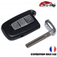 CLE PLIP pour Hyundai i10 i20 ix20 i30 ix35 i40 Santa Fe Veloster 3 boutons COQUE TELECOMMANDE @Pro-Plip