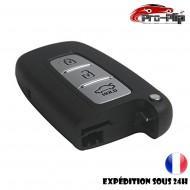 COQUE CLE PLIP pour Hyundai i10 i20 ix20 i30 ix35 i40 Santa Fe Veloster 3 boutons TELECOMMANDE sans lame @Pro-Plip