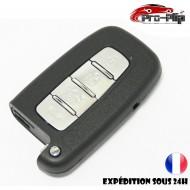 COQUE CLE PLIP pour Hyundai i10 i20 ix20 i30 ix35 i40 Santa Fe Veloster 4 boutons TELECOMMANDE sans lame @Pro-Plip