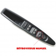 Leve Vitre rétroviseur MANUEL avant gauche compatible Citroen C4 9 PIN 9651464577 6554.HA bouton commande @Pro-Plip